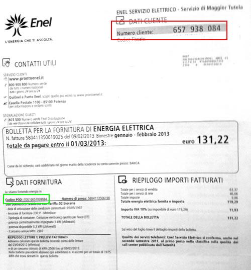 Bolletta Enel