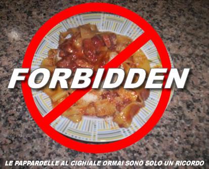 Cibo proibito nella dieta