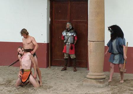 Combattimento di gladiatori nel Colosseo