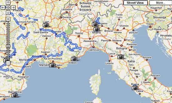 Le località coperte da Google Street View
