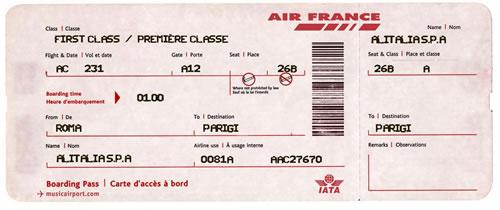 Un biglietto Alitalia