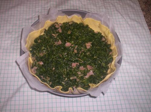 La farcitura della torta salata