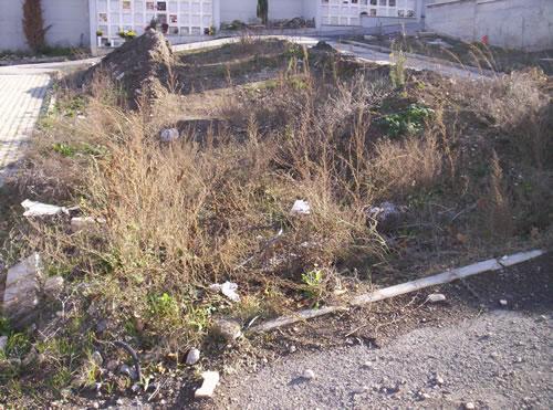 Terra di scavo abbandonata