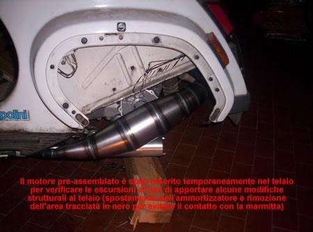 Il motore installato sulla Vespa 50 PK Special