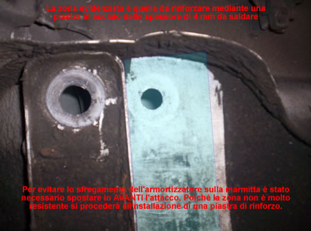 La modifica della zona ammortizzatore di una Vespa 50