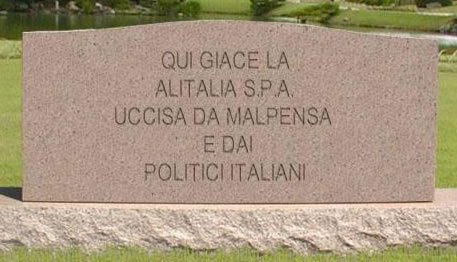 La tomba dell'Alitalia