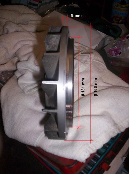 Le misure per tornire il volantino del motore