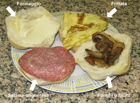 I panini per la gita ad Orvieto