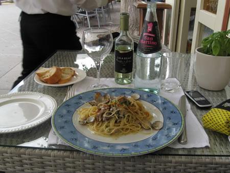 """Spaghetti bottarga e vongole - ristorante """"Il Pavone"""" - Alghero"""