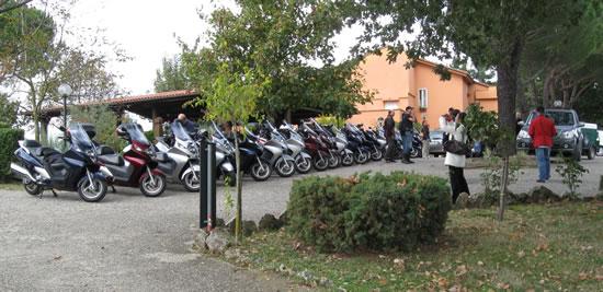 I Silver Wing posteggiati al Ristorante Belvedere di Casone - Pitigliano
