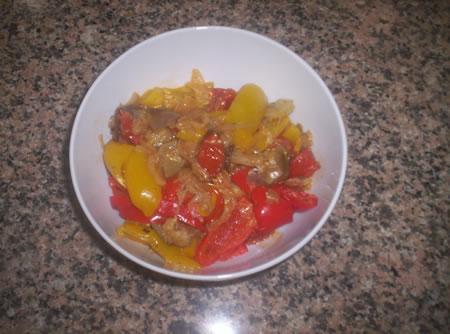 Le verdure pronte per essere servite